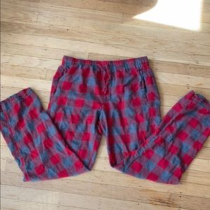 Gap Men's Flannel Pajama Pants Med Red Check Plaid